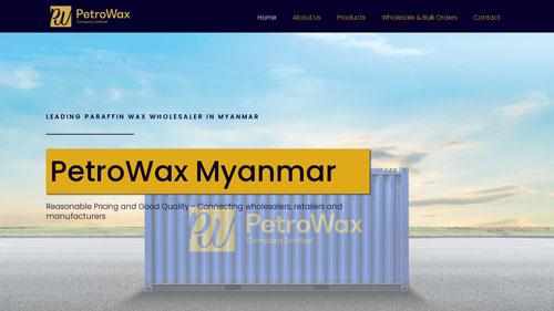 PetroWax Myanmar Website